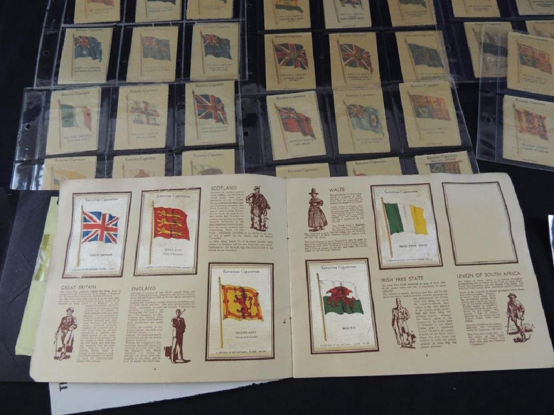 Group of National Flag Silk Cigarette Cards and Albums - 10