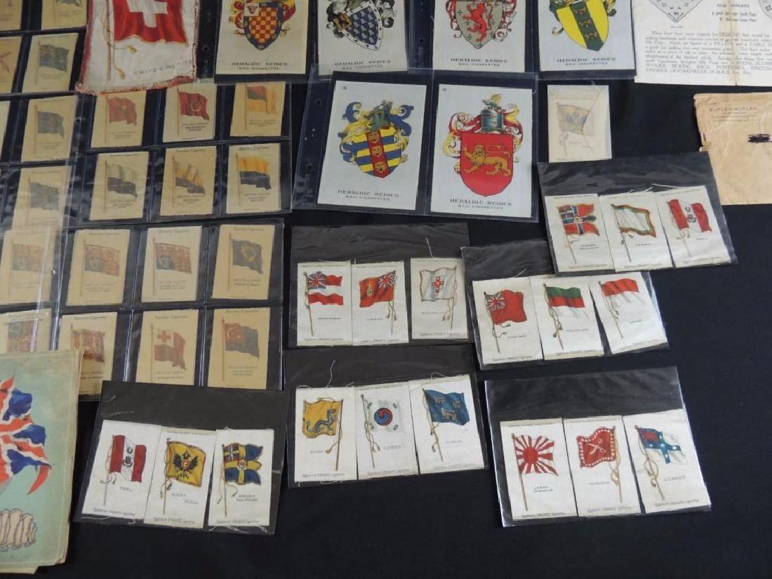 Group of National Flag Silk Cigarette Cards and Albums - 4