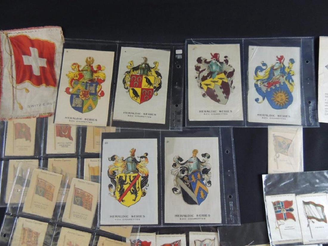 Group of National Flag Silk Cigarette Cards and Albums - 7