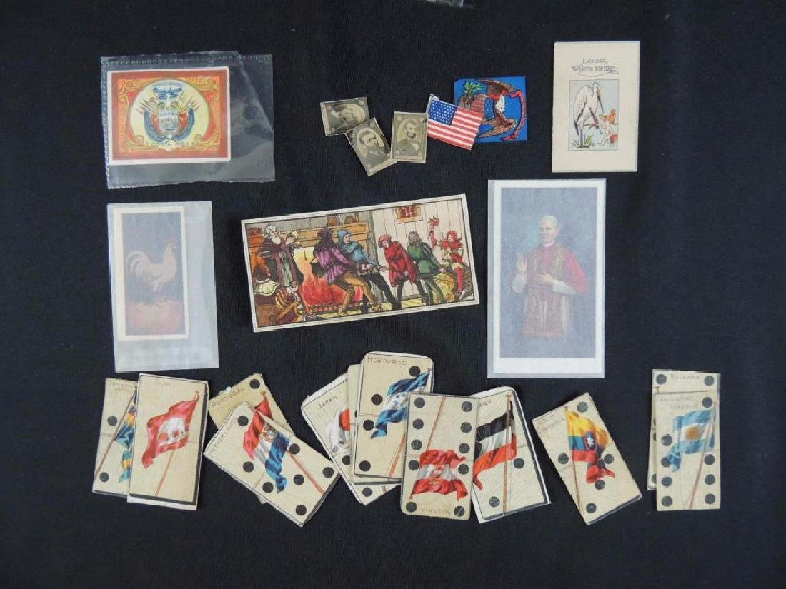 Group of 30 Cigarette Cards Featuring Flags, The Pope,