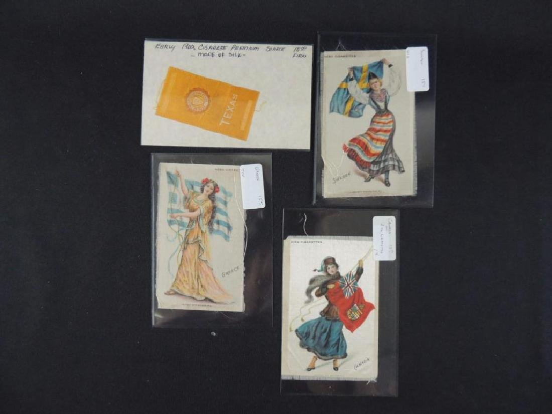 Group of 4 Silk Cigarette Cards Featuring Scarce Texas