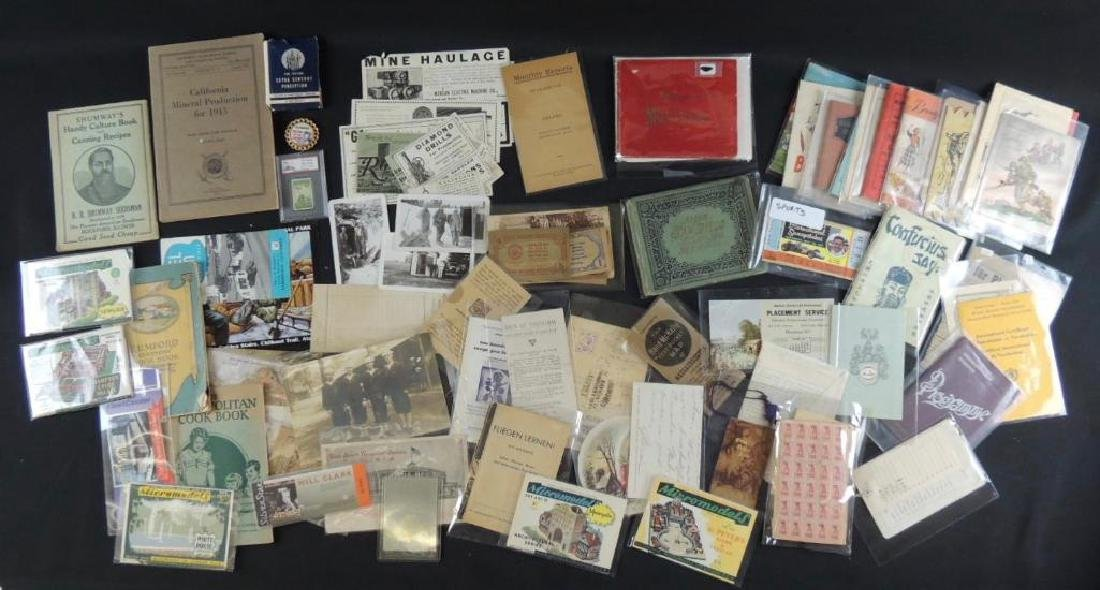 Group of Mining, Cooking, and Other Ephemera