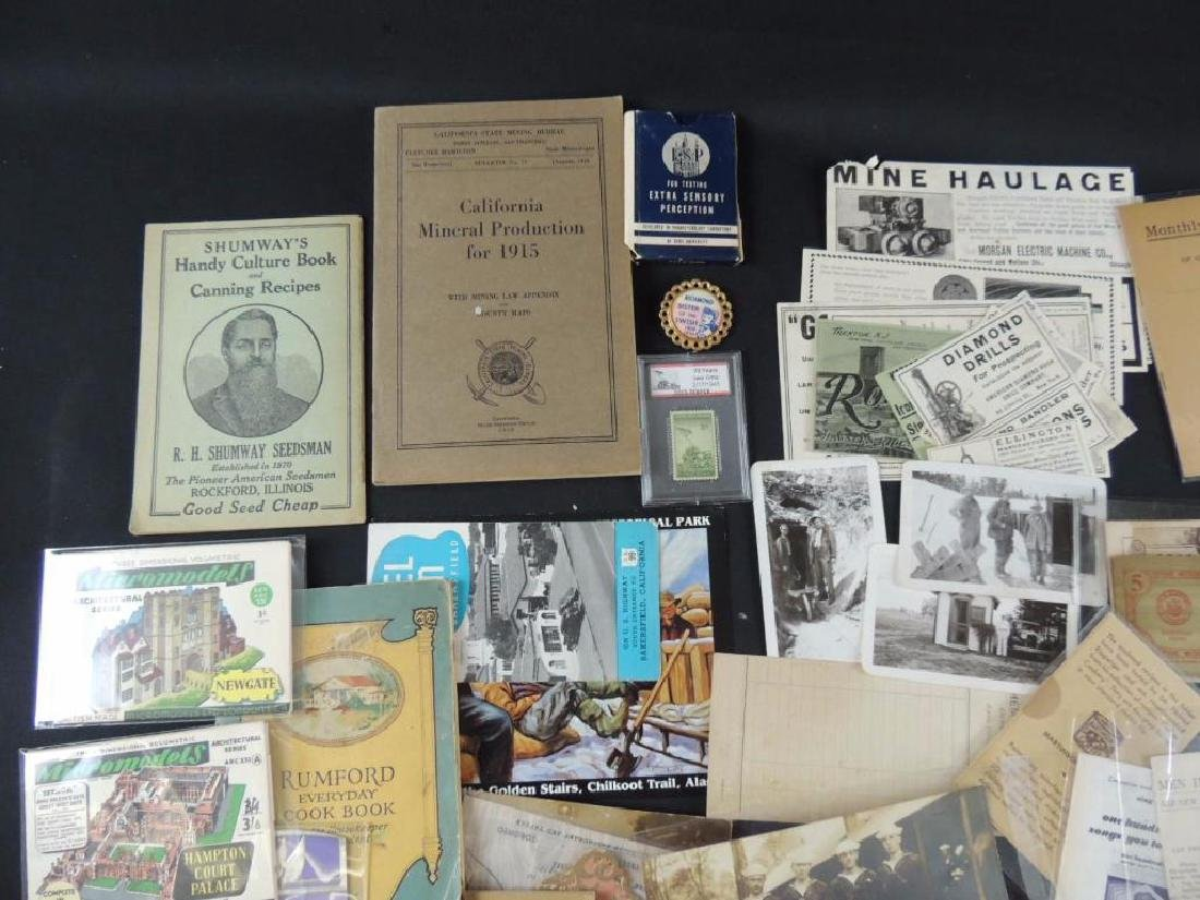 Group of Mining, Cooking, and Other Ephemera - 6