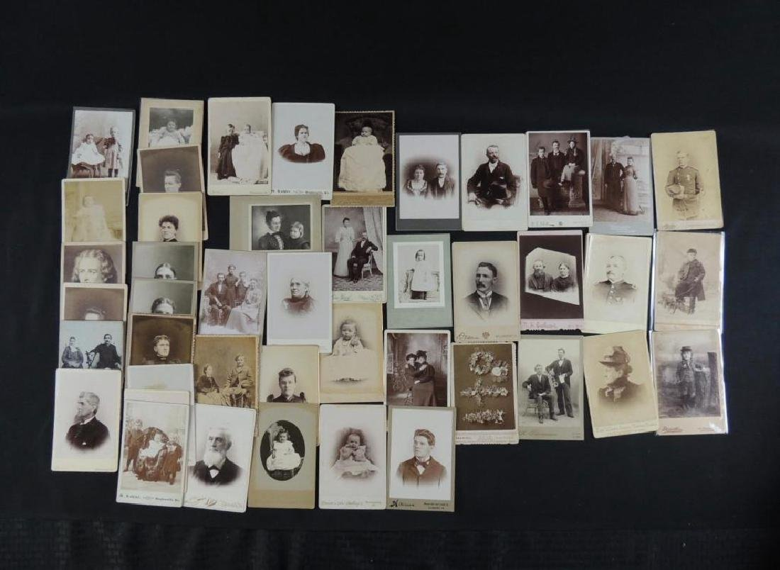 Group of 46 Cabinet Card Photographs Featuring Soldiers