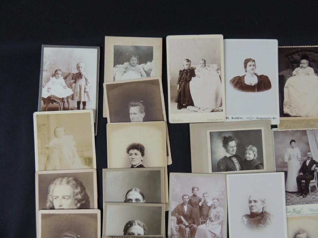 Group of 46 Cabinet Card Photographs Featuring Soldiers - 2