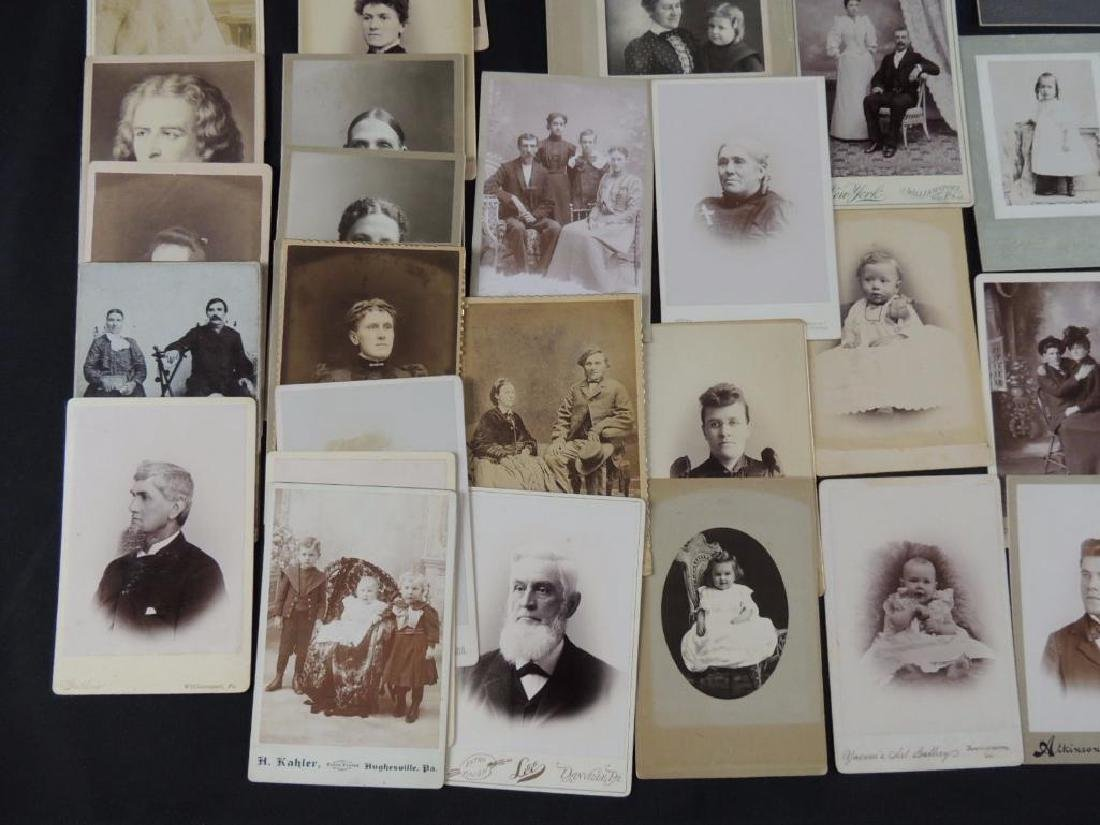 Group of 46 Cabinet Card Photographs Featuring Soldiers - 3