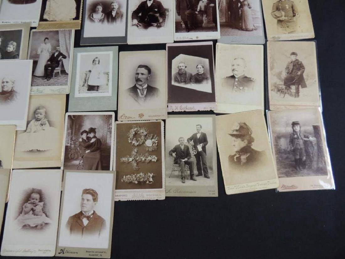 Group of 46 Cabinet Card Photographs Featuring Soldiers - 4