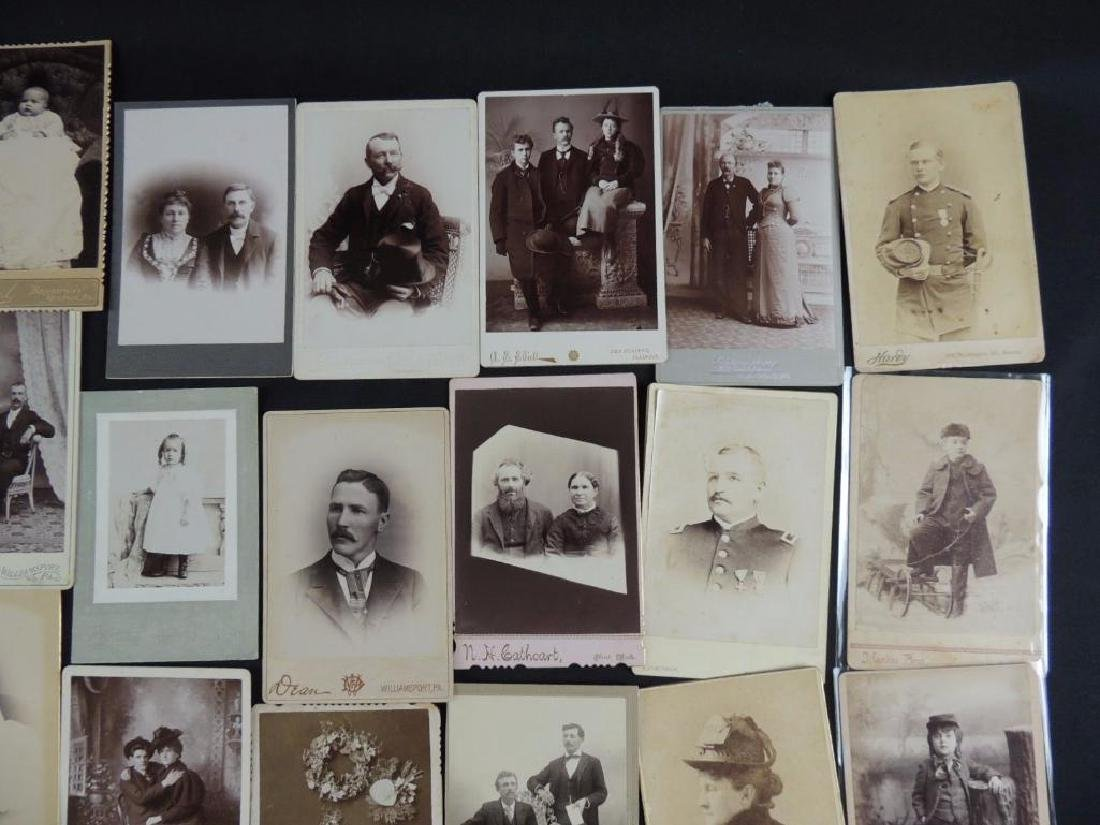 Group of 46 Cabinet Card Photographs Featuring Soldiers - 5