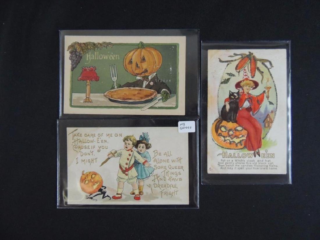Group of 3 Embossed Halloween Postcards