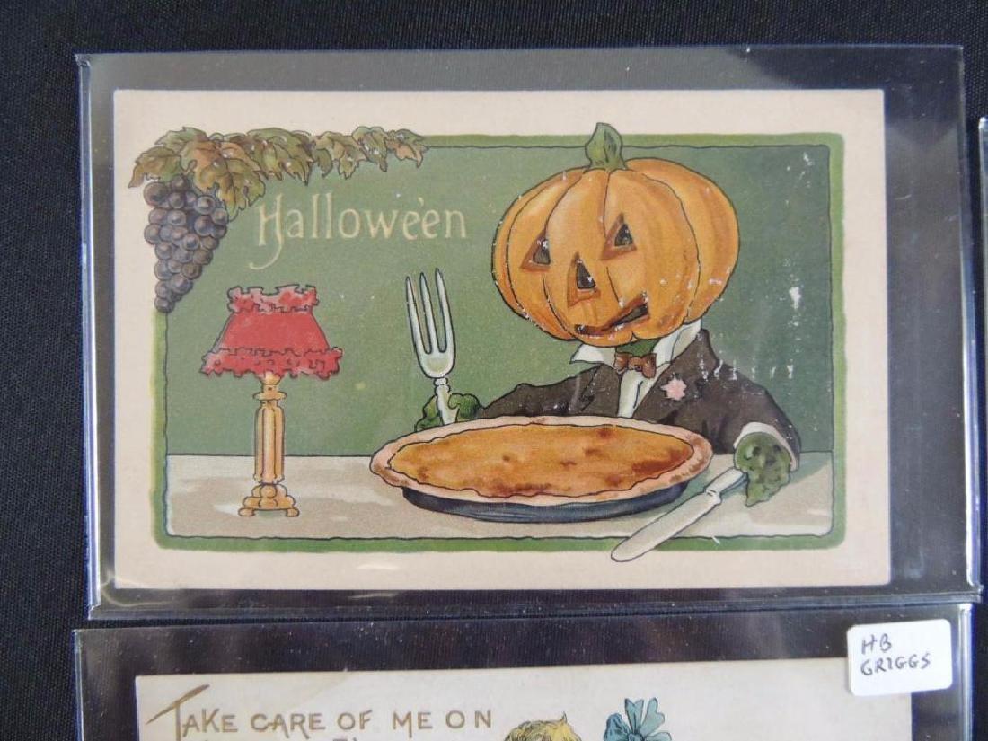 Group of 3 Embossed Halloween Postcards - 2