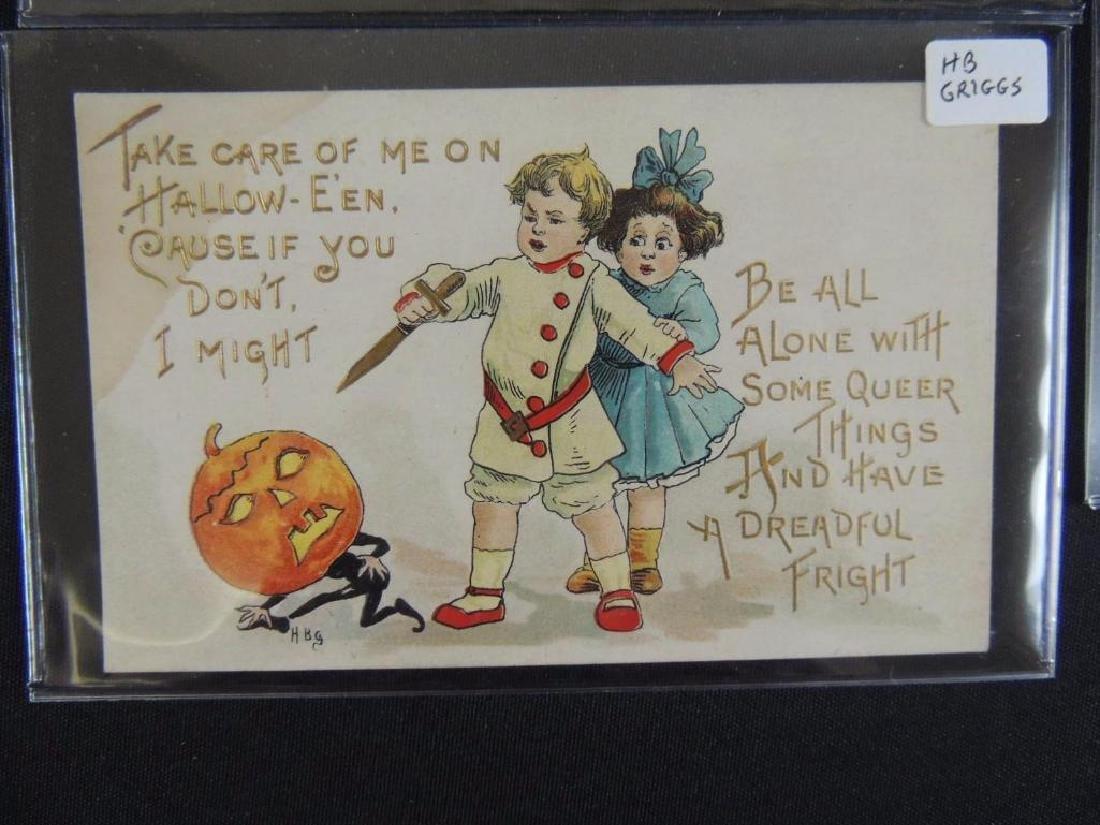 Group of 3 Embossed Halloween Postcards - 3