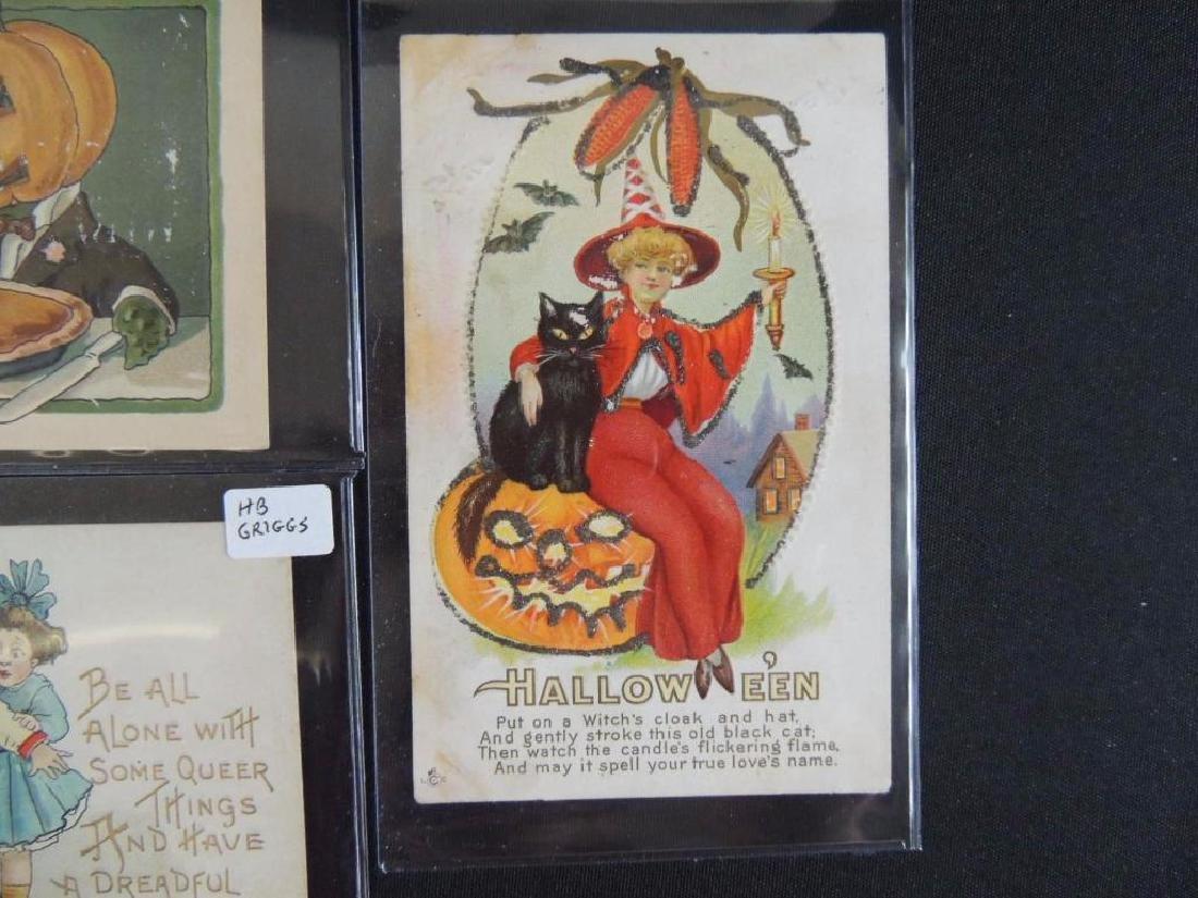 Group of 3 Embossed Halloween Postcards - 4