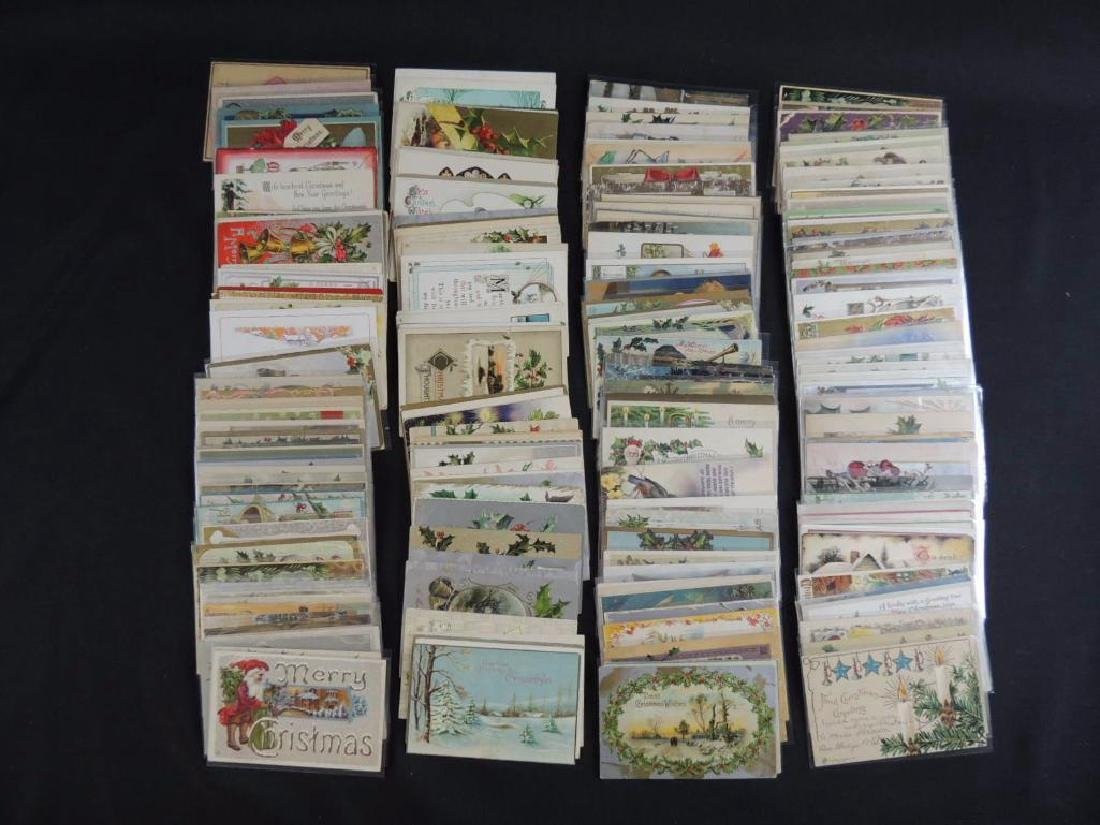 Group of Approximately 200 Plus Christmas Postcards