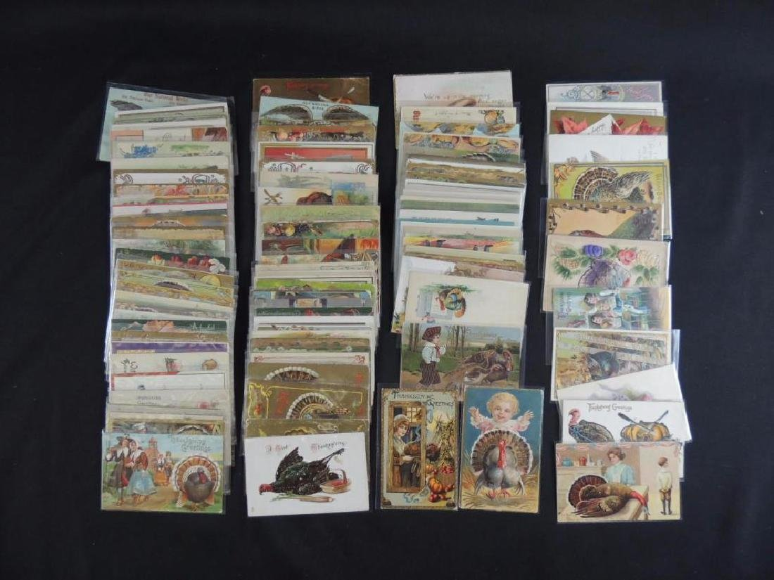 Group of Approximately 100 Plus Thanksgiving Postcards