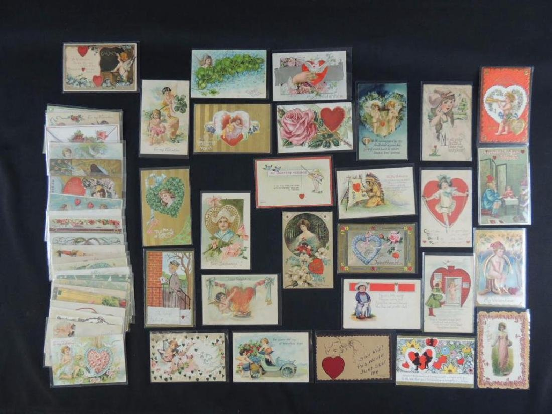 Approximately 50 Valentine Postcards