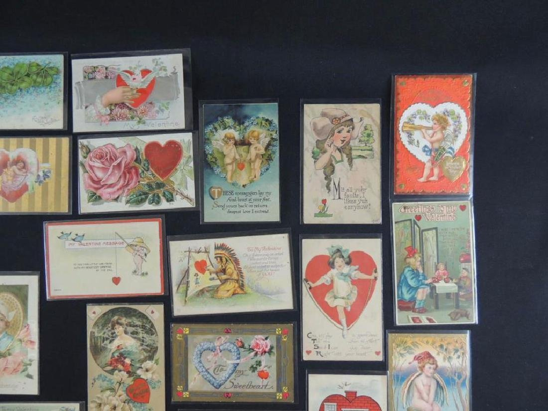 Approximately 50 Valentine Postcards - 2
