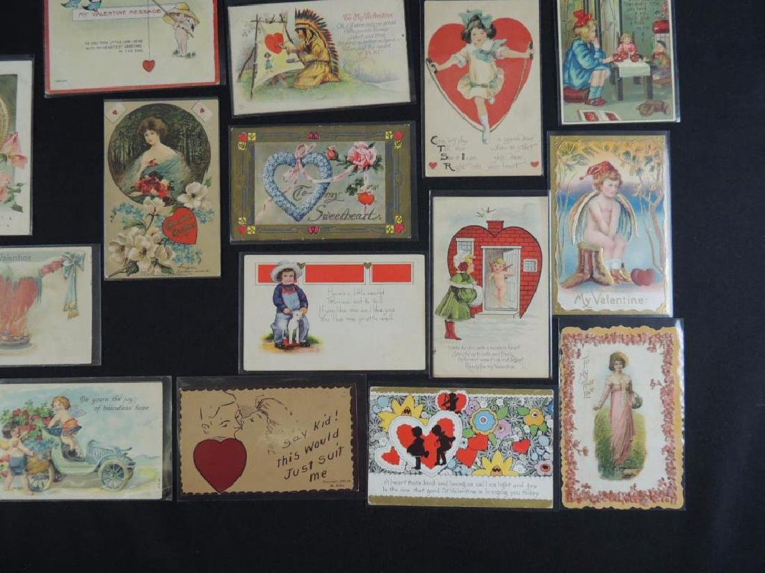 Approximately 50 Valentine Postcards - 3