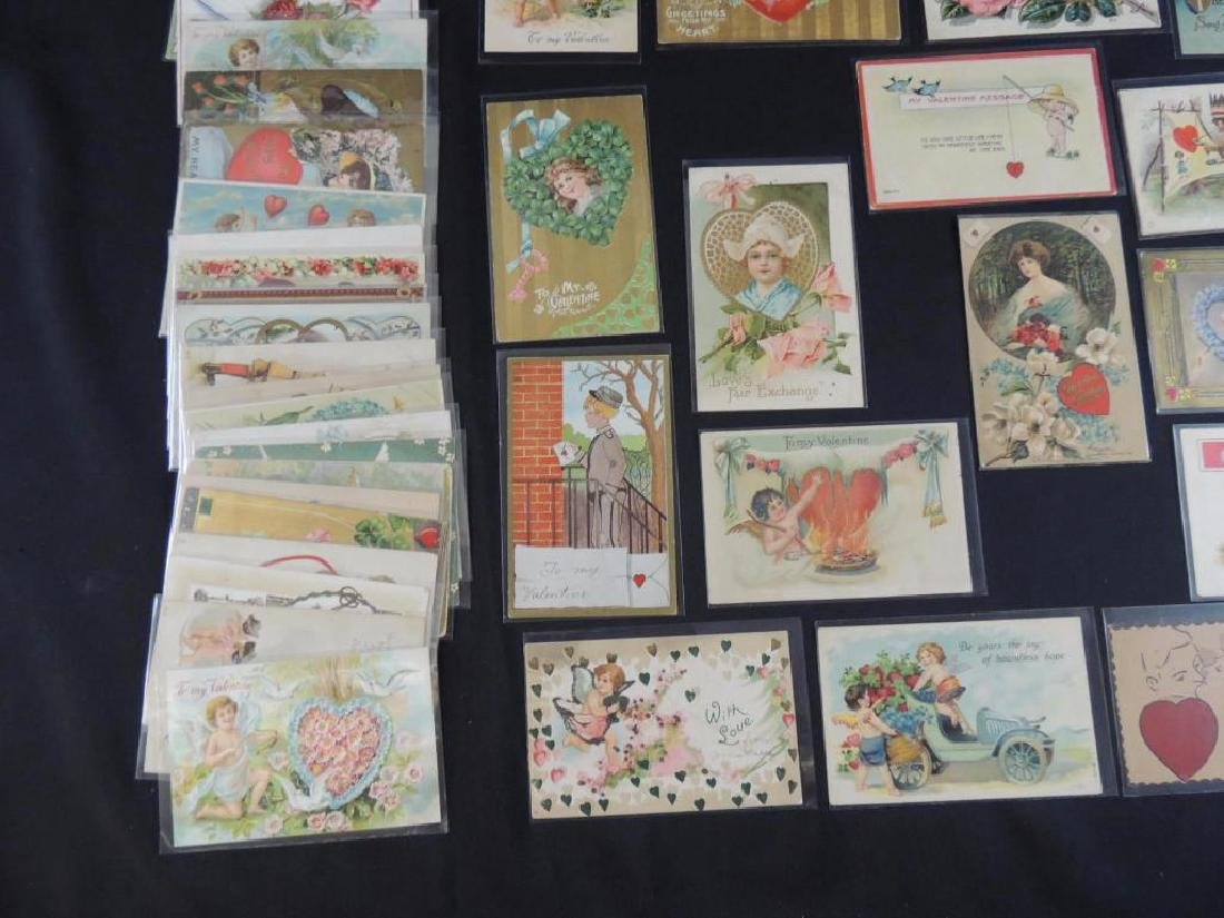 Approximately 50 Valentine Postcards - 4