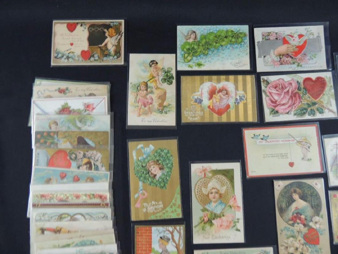 Approximately 50 Valentine Postcards - 5