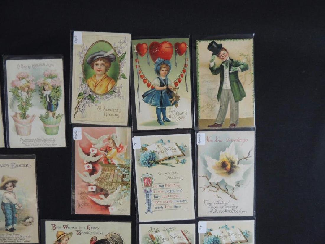 22 Various Holiday Postcards Mostly Signed - 2