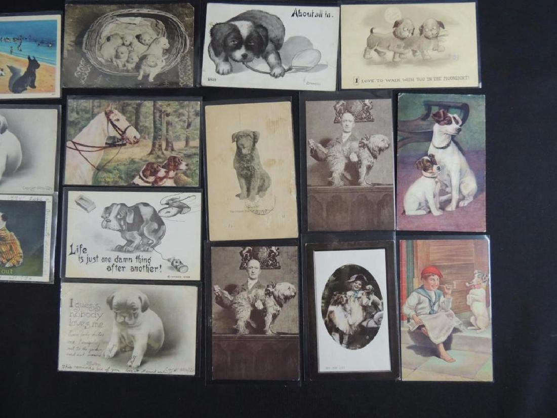 Group of 18 Postcards Featuring Dogs - 3