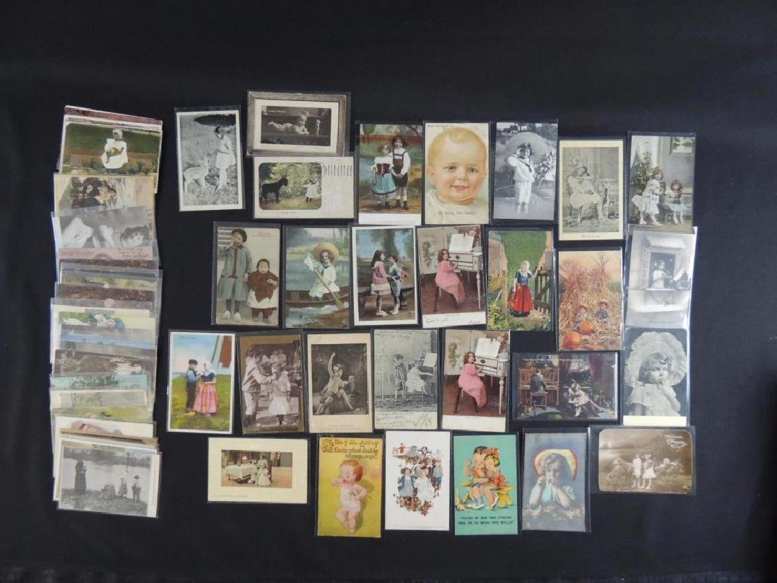 Approximately 50 Plus Postcards Featuring Children