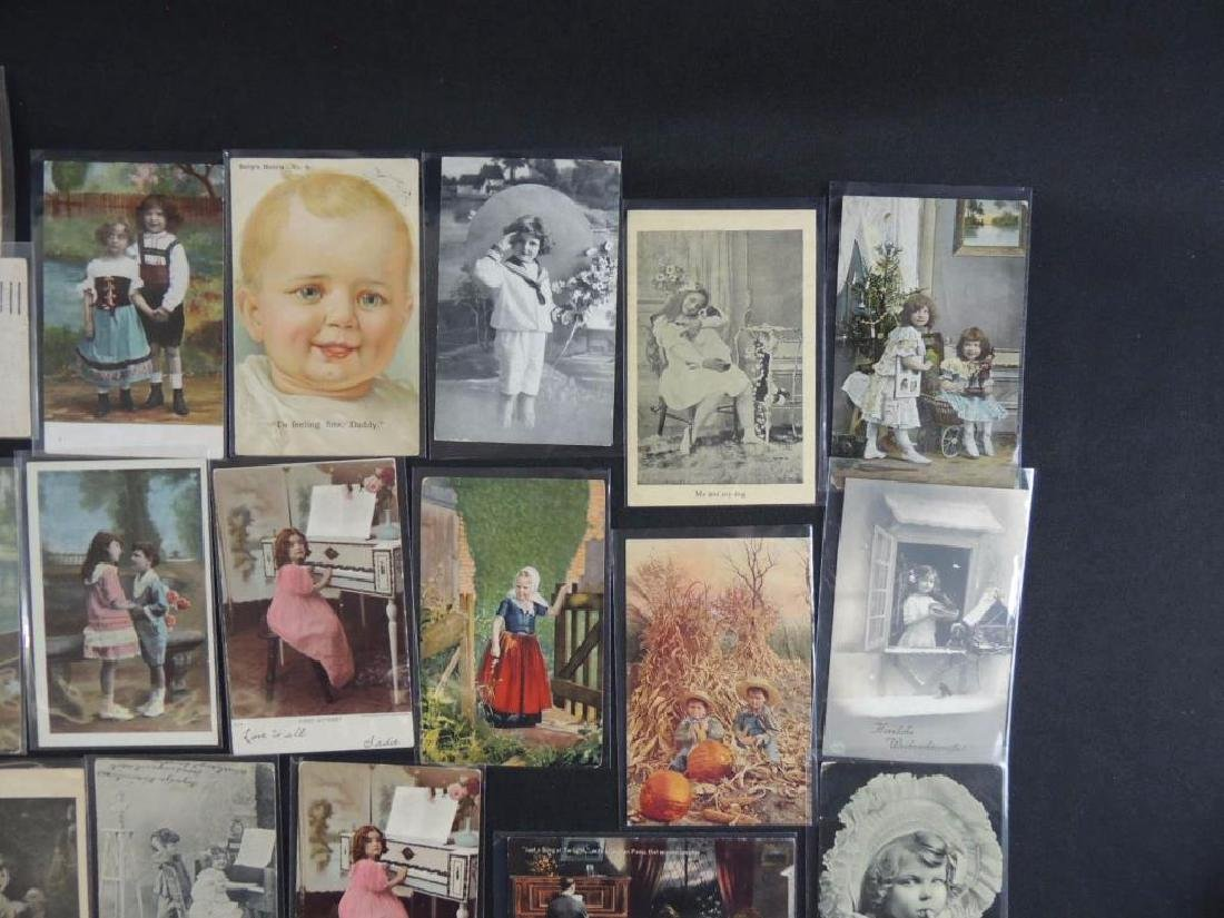 Approximately 50 Plus Postcards Featuring Children - 2