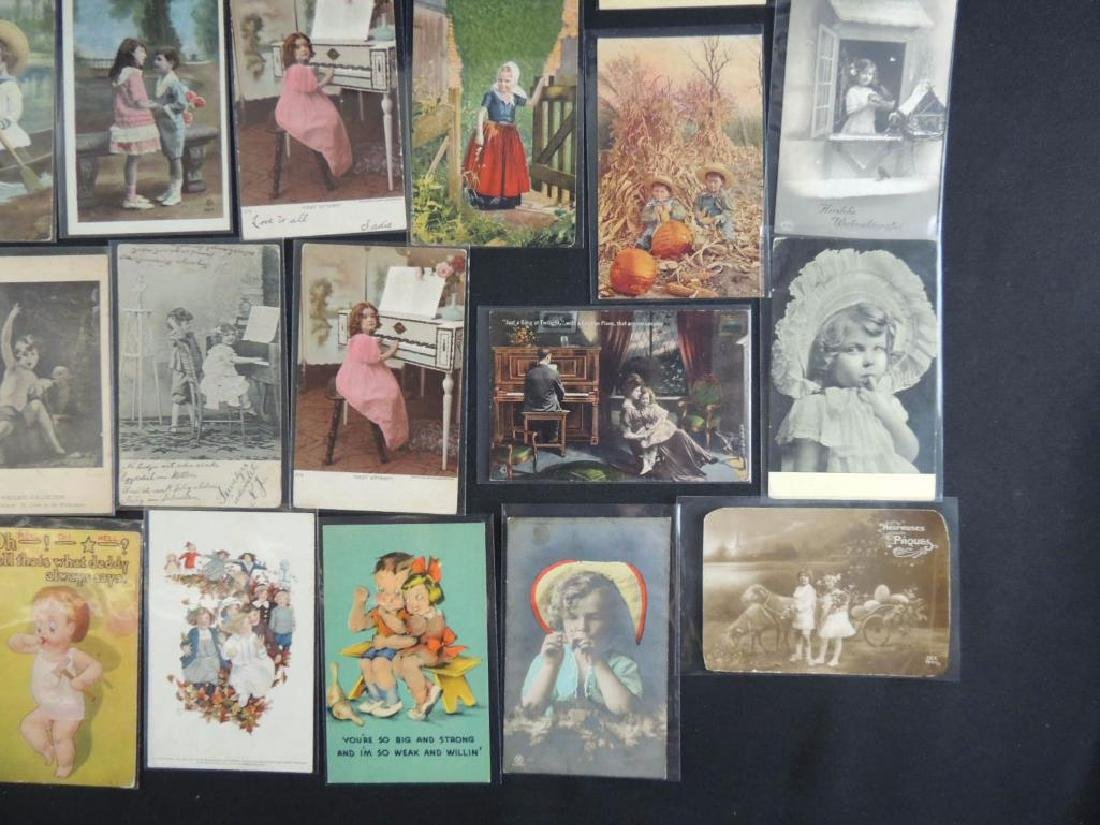 Approximately 50 Plus Postcards Featuring Children - 3