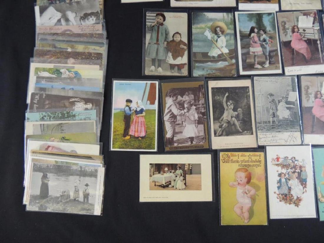 Approximately 50 Plus Postcards Featuring Children - 4