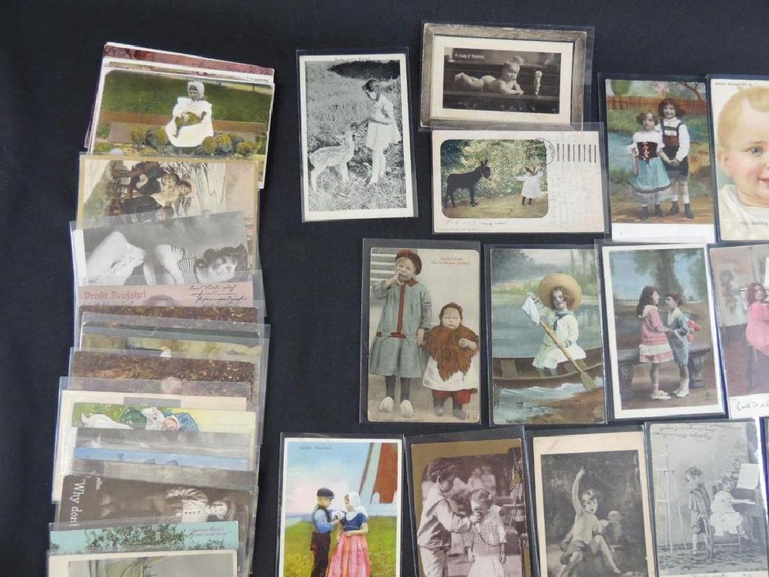 Approximately 50 Plus Postcards Featuring Children - 5