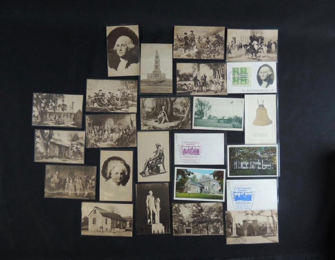 Group of 24 Commemorative Washington Postcards