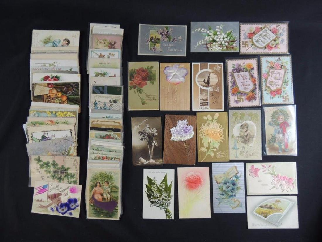 Approximately 100 Plus Greeting Postcards