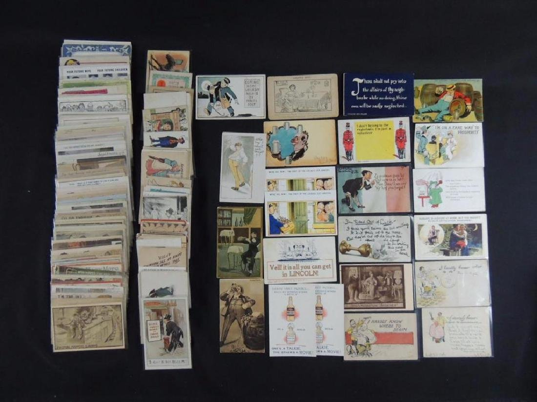 Approximately 300 Vintage Humor Postcards