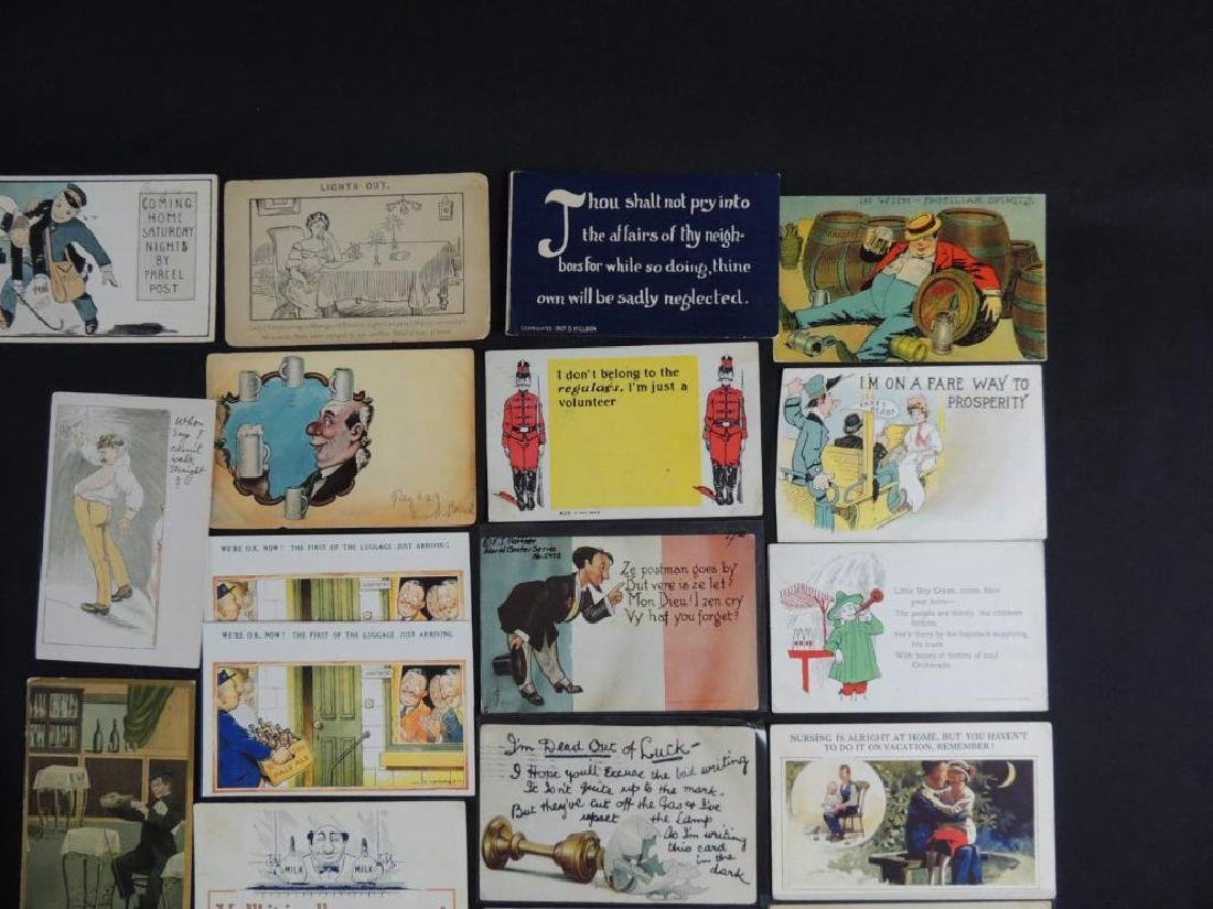 Approximately 300 Vintage Humor Postcards - 2