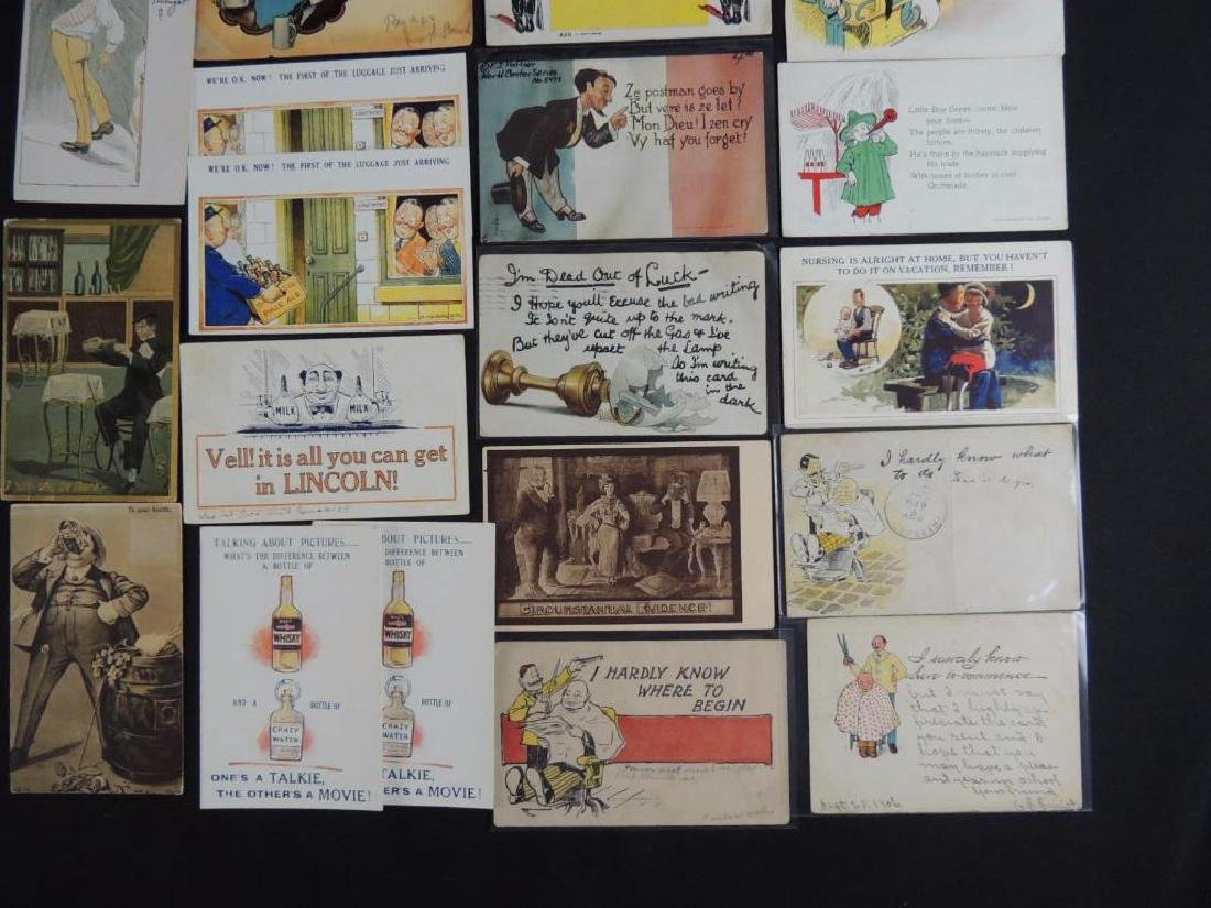 Approximately 300 Vintage Humor Postcards - 3