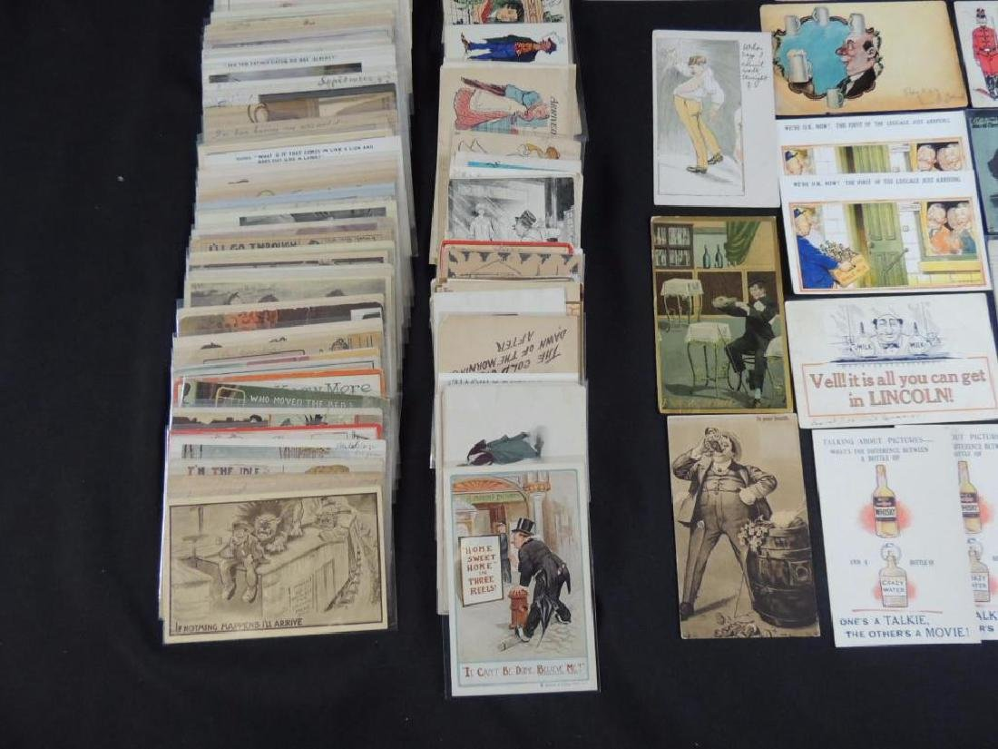 Approximately 300 Vintage Humor Postcards - 4