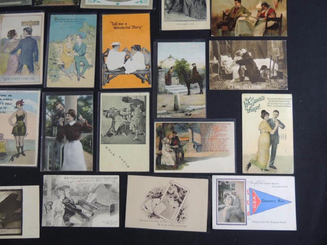 Approximately 300 Plus Romance Postcards - 3