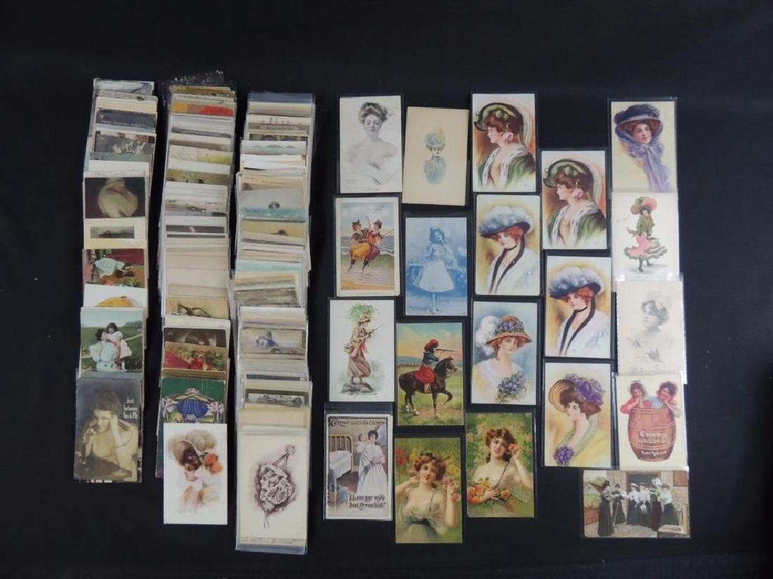 Approximately 300 Plus Postcards Featuring Women