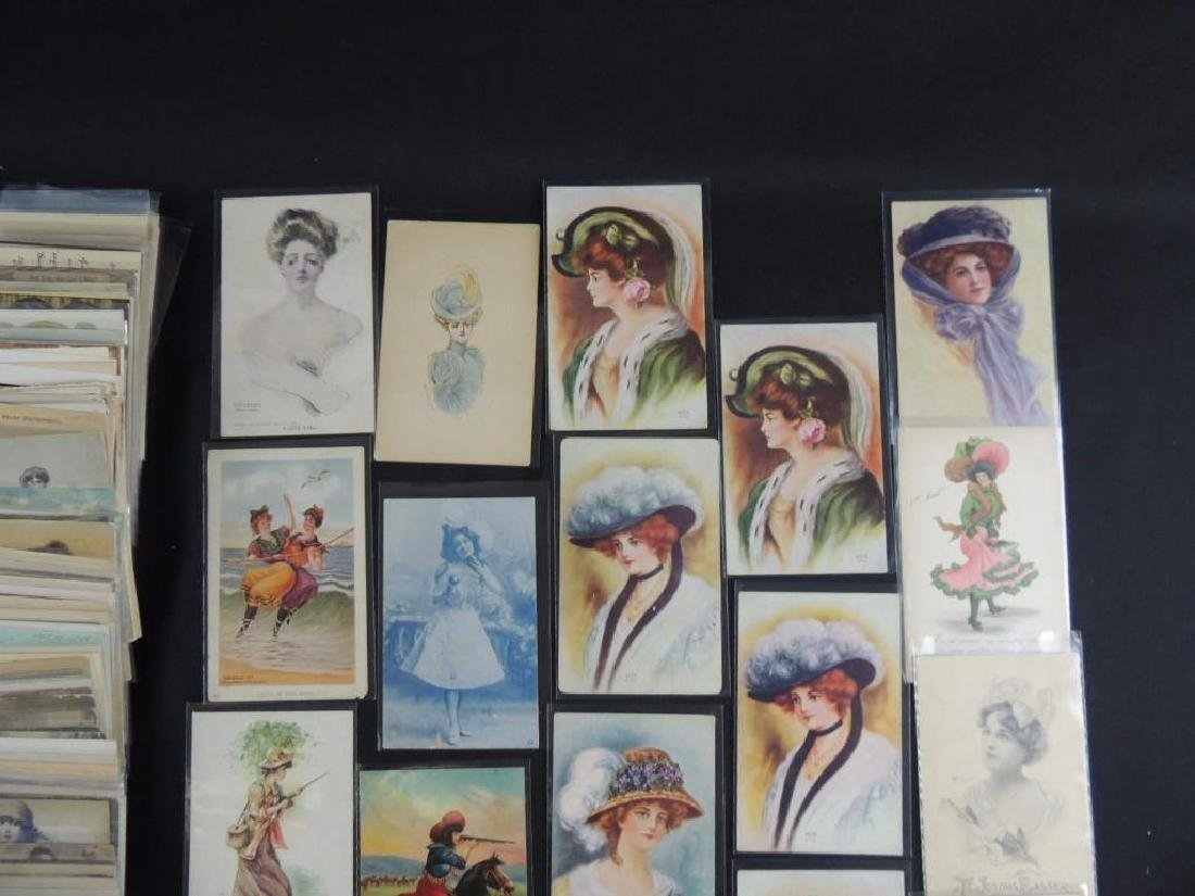 Approximately 300 Plus Postcards Featuring Women - 2