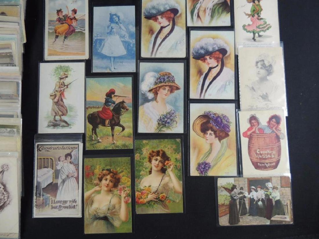 Approximately 300 Plus Postcards Featuring Women - 3