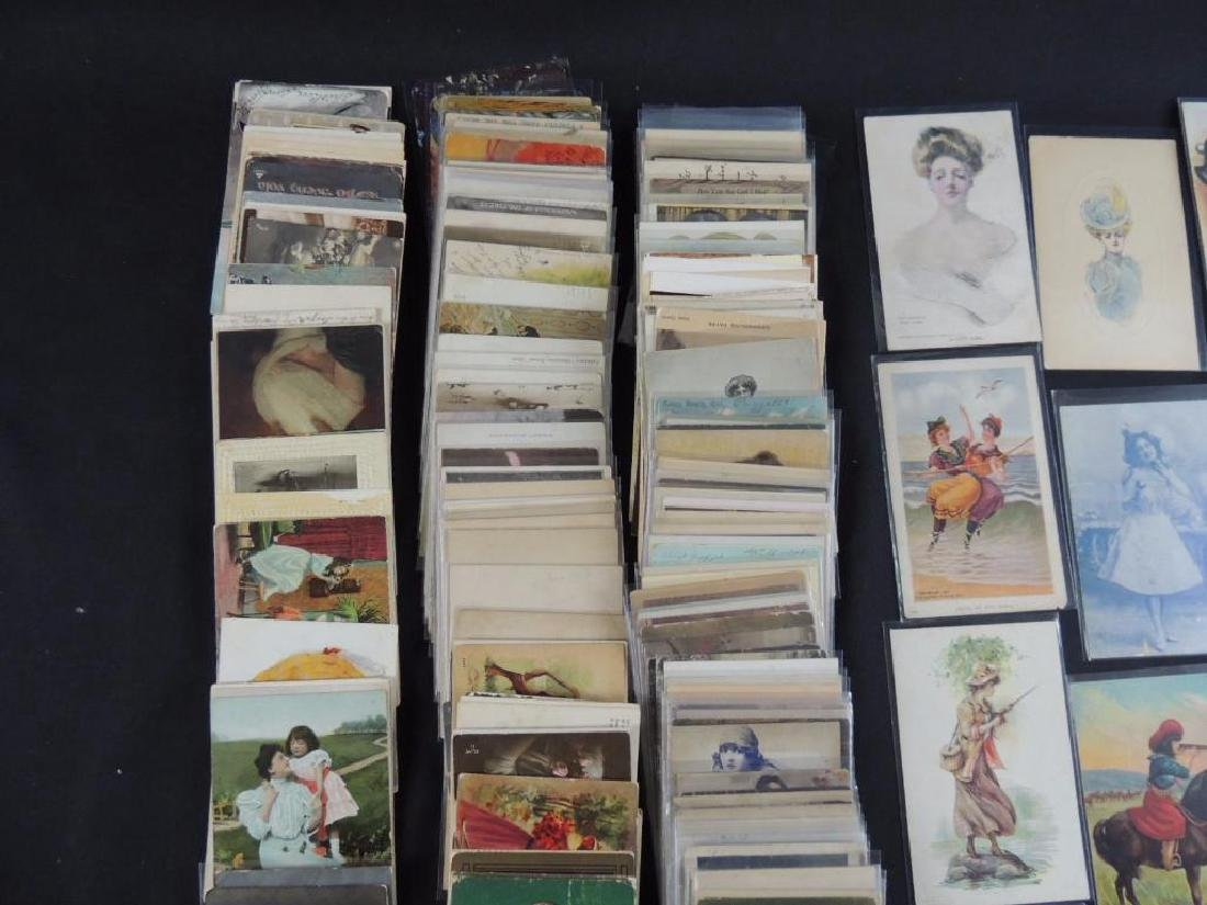 Approximately 300 Plus Postcards Featuring Women - 5