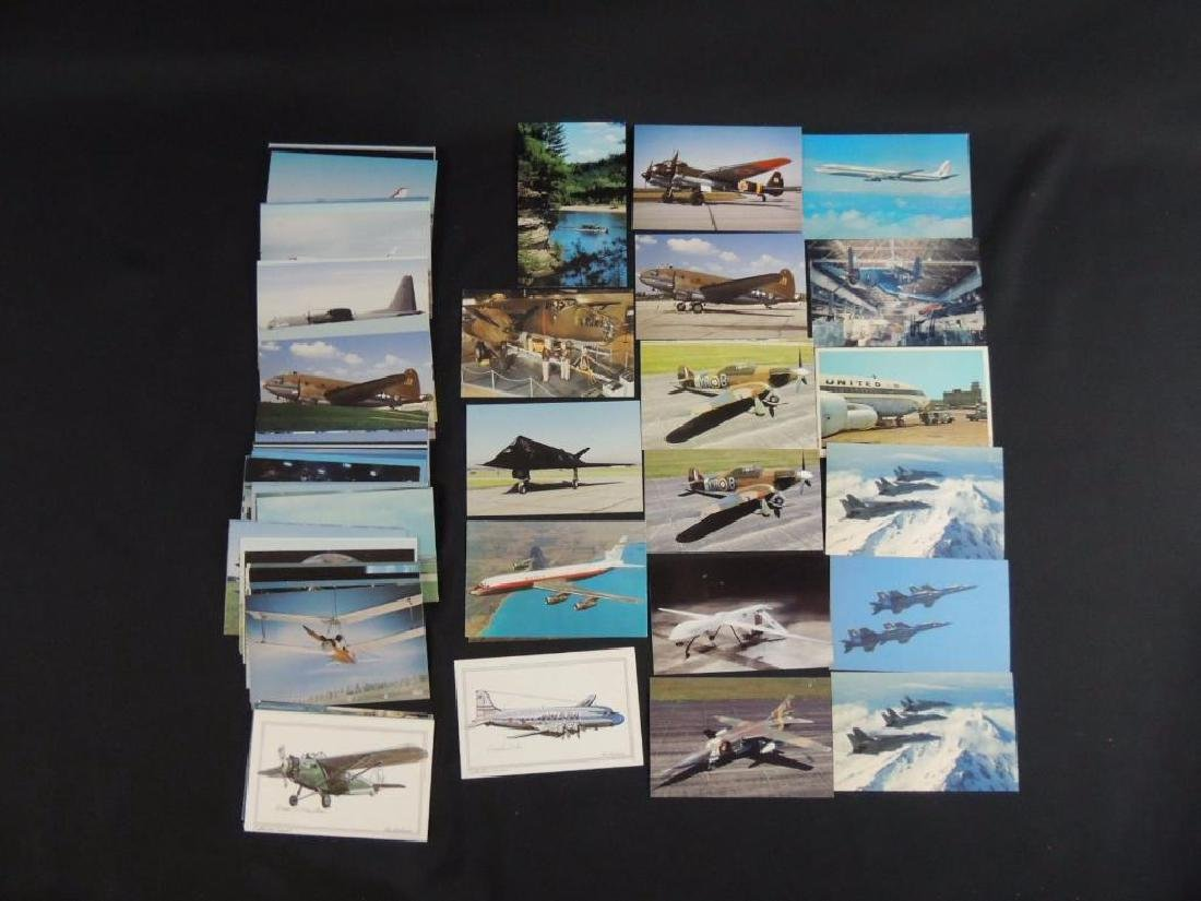 Approximately 50 Plus Airplane Postcards