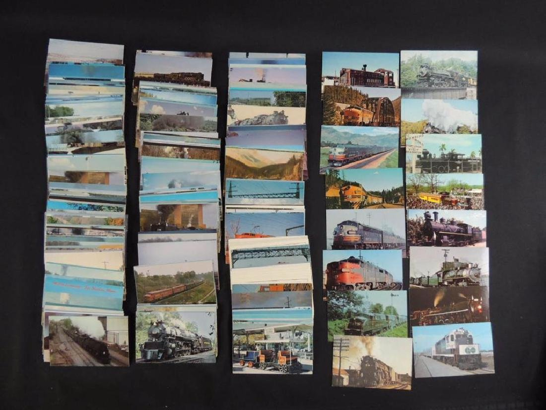 Approximately 300 Plus Train and Railroad Postcards