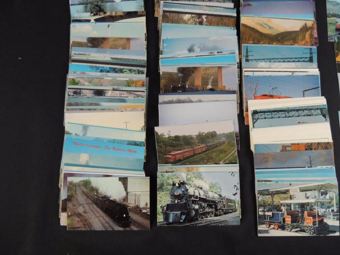 Approximately 300 Plus Train and Railroad Postcards - 4