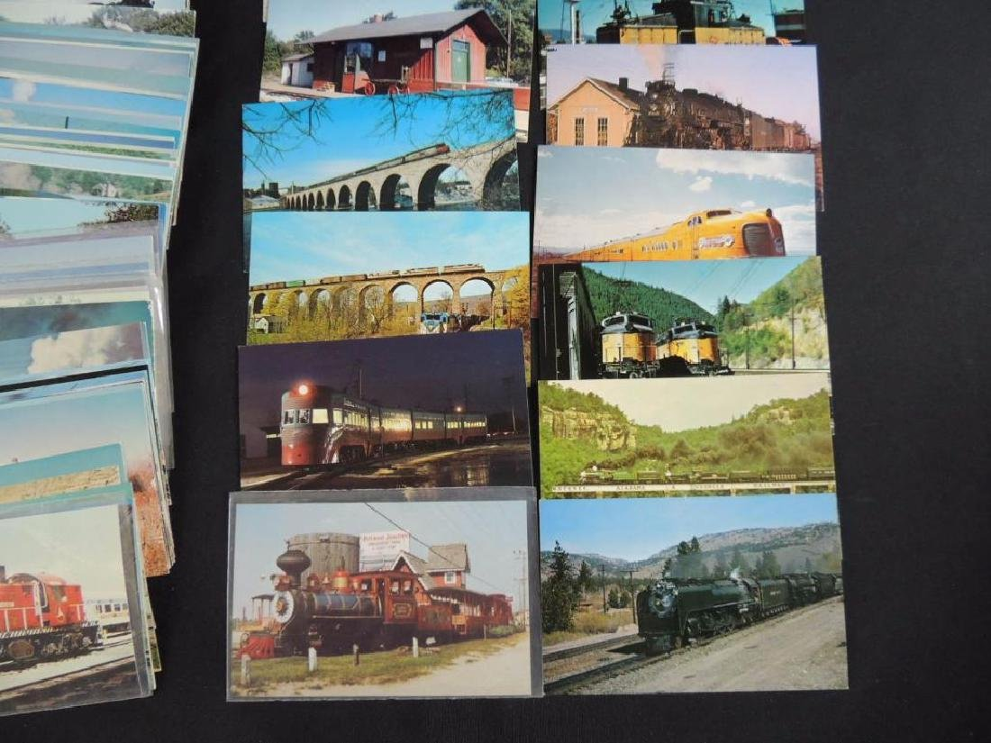 Approximately 300 Plus Train and Railroad Postcards - 2