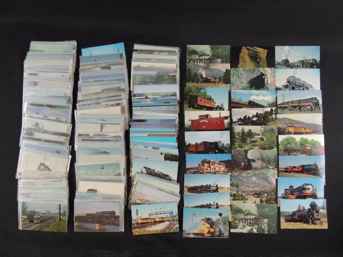 Approximately 400 Plus Train and Railroad Postcards