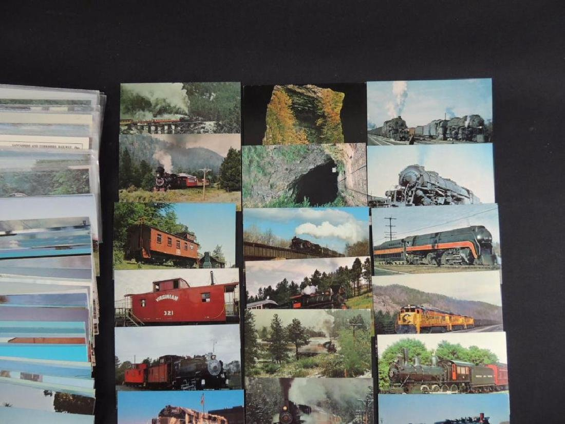 Approximately 400 Plus Train and Railroad Postcards - 2