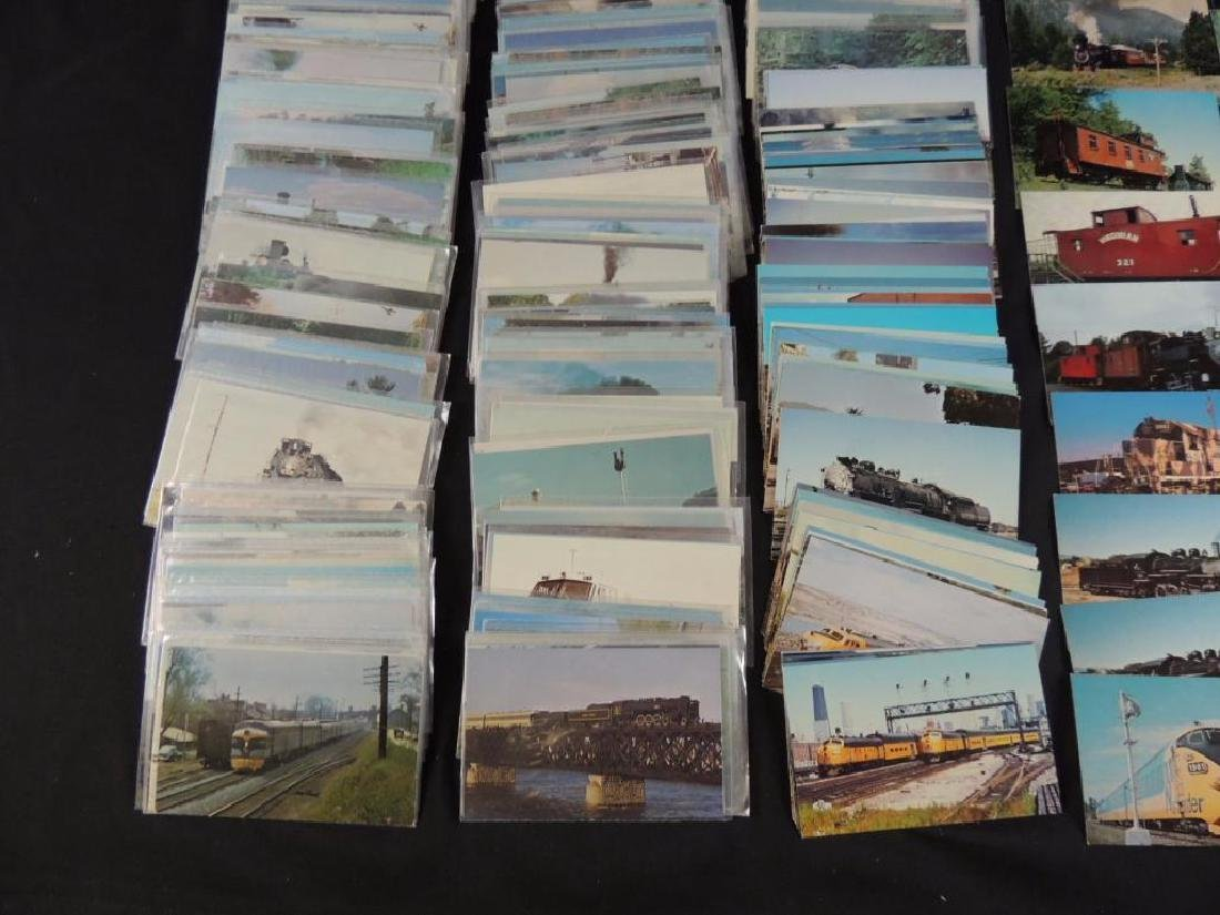 Approximately 400 Plus Train and Railroad Postcards - 4