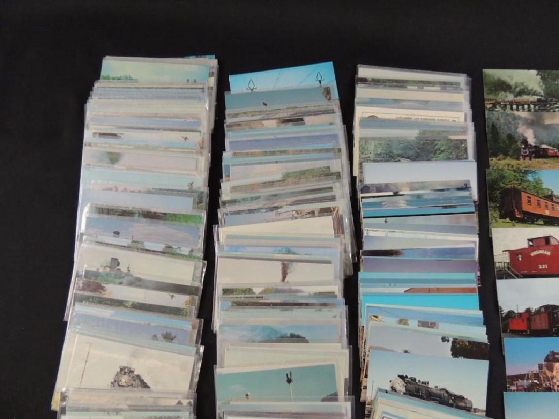 Approximately 400 Plus Train and Railroad Postcards - 5