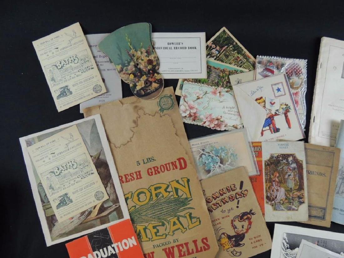 Group of Miscellaneous Ephemera Featuring Booklets, - 2
